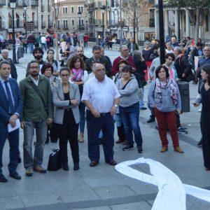 oncejales y concejalas de la Corporación municipal se unen a la VIII Rueda de Hombres contra la violencia machista en Zocodover
