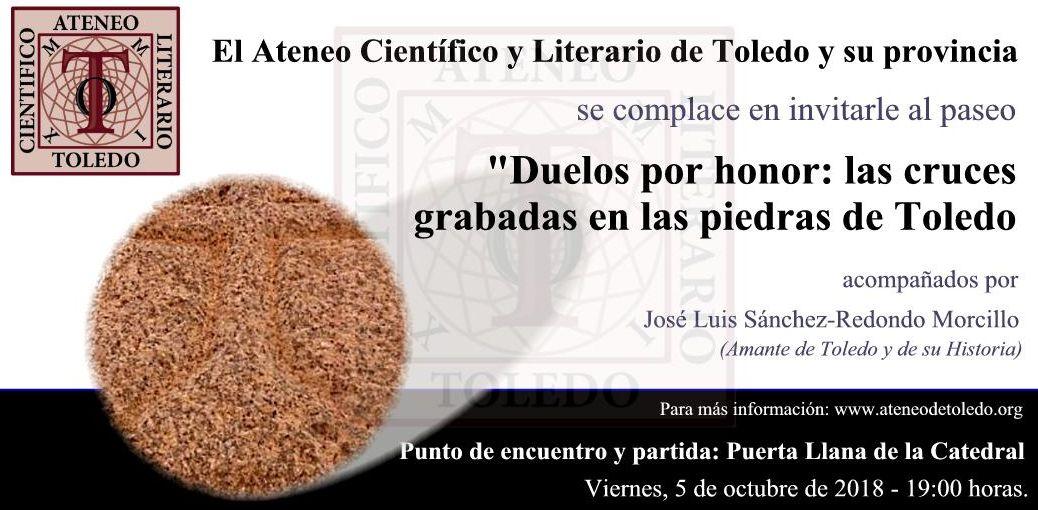 """Paseo """"Duelos por honor: las cruces grabadas en las piedras de Toledo"""""""