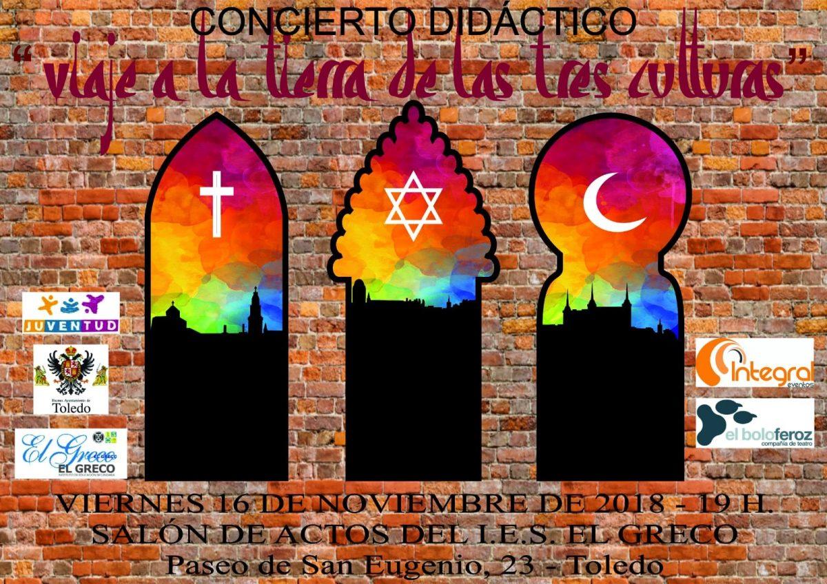 """http://www.toledo.es/wp-content/uploads/2018/10/bolo-feroz-1-1200x848.jpg. Concierto didáctico """"Viaje a la tierra de las tres culturas"""""""