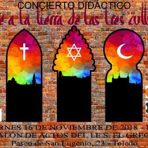 """Concierto didáctico """"Viaje a la tierra de las tres culturas"""""""