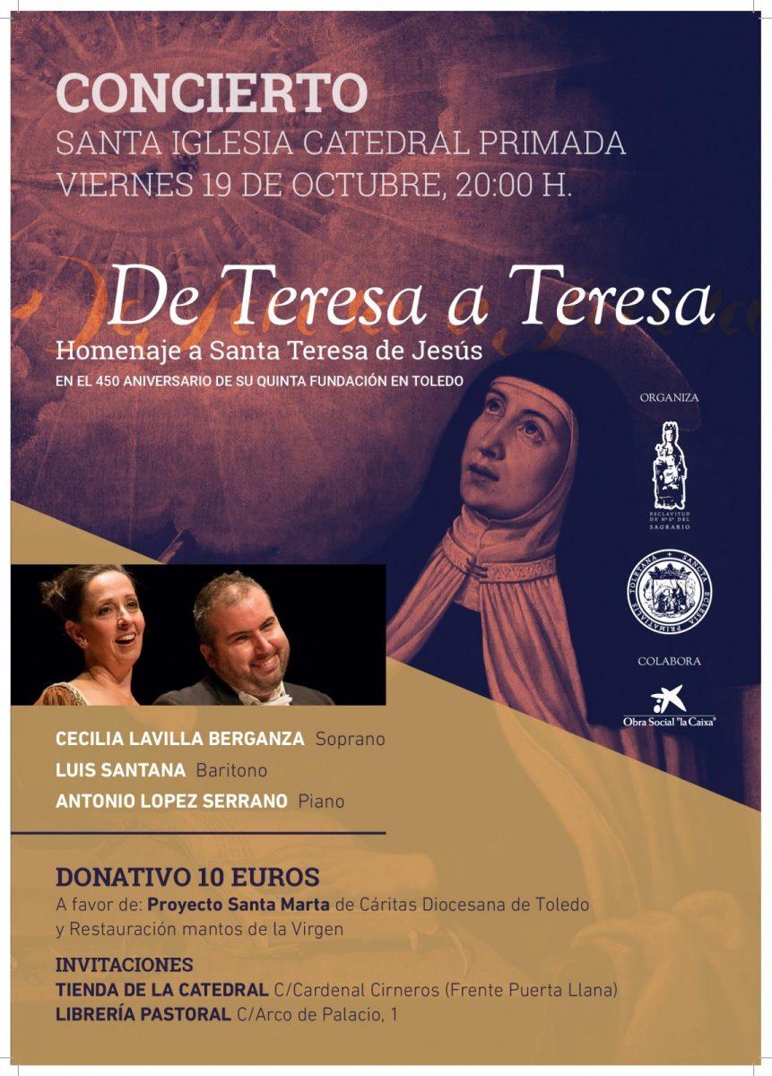 """http://www.toledo.es/wp-content/uploads/2018/10/cartel-concierto-2018-001-861x1200.jpg. Concierto """"De Teresa a Teresa"""""""