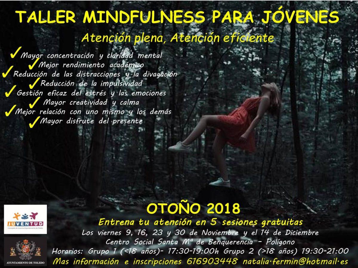 http://www.toledo.es/wp-content/uploads/2018/10/cartel-para-juventud-taller-mindfulness-otono-2018-1200x900.jpg. El arte de ser uno mismo a través del Mindfulness