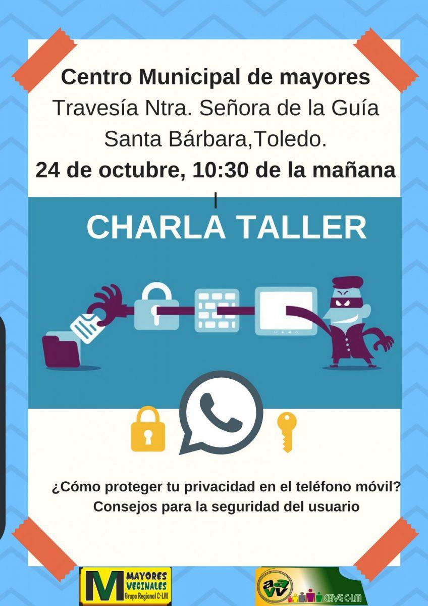 http://www.toledo.es/wp-content/uploads/2018/10/ciberseguridadsantabarbara-848x1200.jpg. Taller de ciberseguridad en el móvil