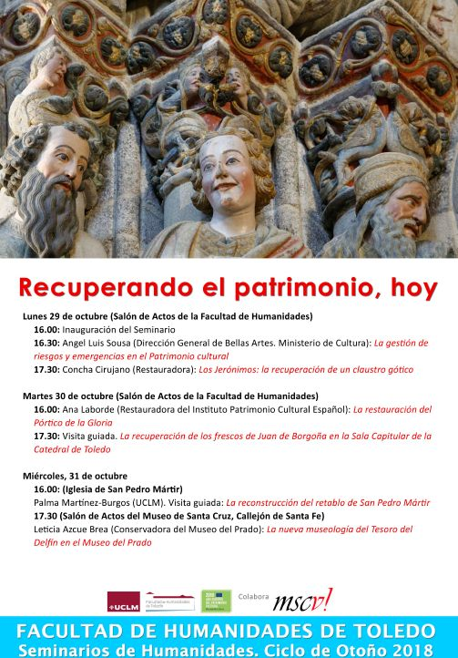 """http://www.toledo.es/wp-content/uploads/2018/10/patrimonio.jpg. Seminario """"Recuperando el Patrimonio, hoy"""""""