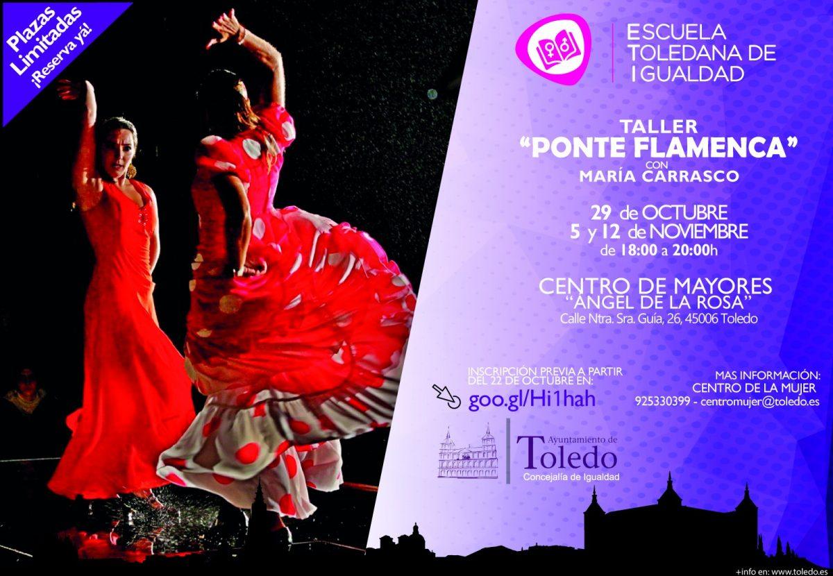 http://www.toledo.es/wp-content/uploads/2018/10/ponte-flamenca-01-01-1-1200x830.jpg. TALLER PONTE FLAMENCA. ESCUELA TOLEDANA DE IGUALDAD.