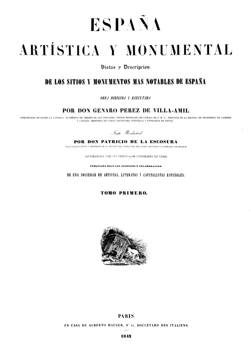 Portada de Tomo I - 1842