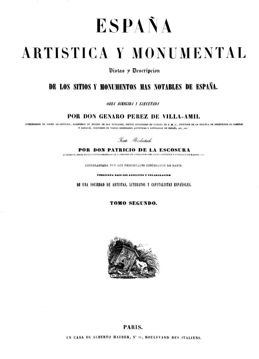 Portada de Tomo II - 1844