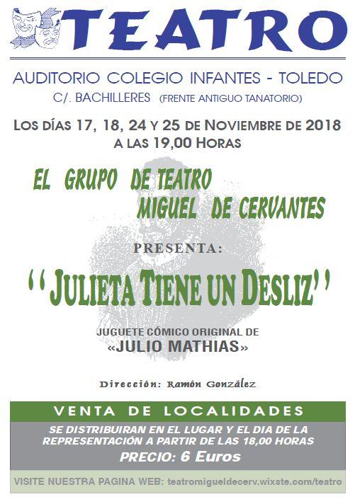 Representación Grupo de teatro Miguel de Cervantes: Julieta tiene un desliz, de Julio Mathias