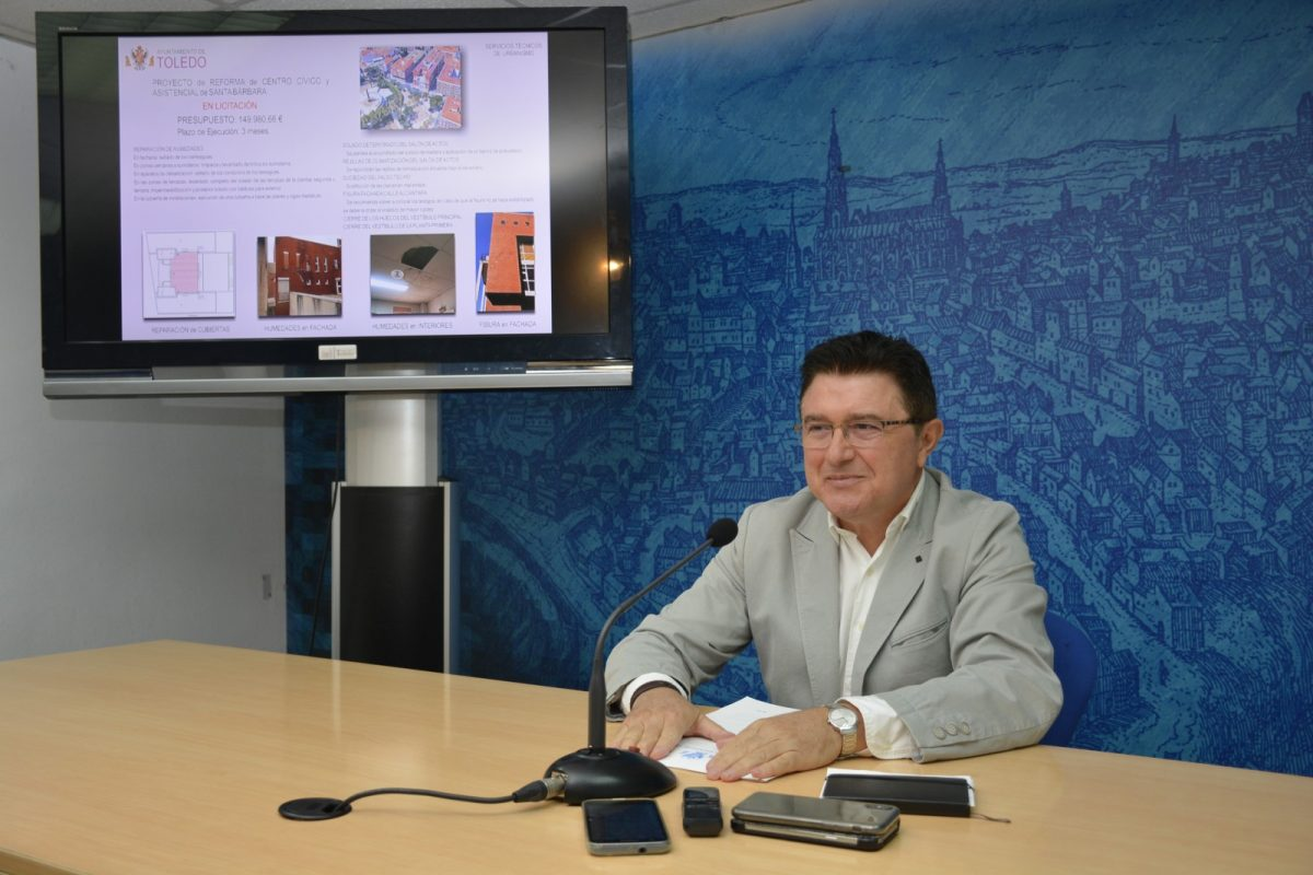 https://www.toledo.es/wp-content/uploads/2018/10/teo-garcia_presentacion-proyectos-mejora-1200x800.jpg. El Gobierno local mejorará las instalaciones de la Escuela de Idiomas de Palomarejos y del Centro Cívico de Santa Bárbara