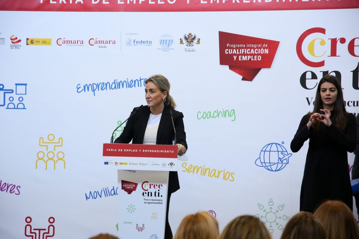 http://www.toledo.es/wp-content/uploads/2018/11/02_feria_empleo-1200x800.jpg. Milagros Tolón reitera el compromiso del Ayuntamiento con las iniciativas que ofrezcan una oportunidad laboral a los jóvenes