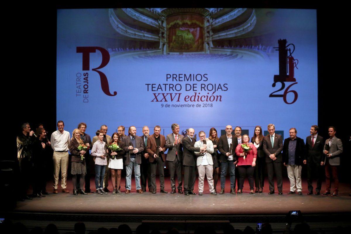 http://www.toledo.es/wp-content/uploads/2018/11/10_premios_rojas-1200x800.jpg. El Teatro de Rojas celebra la XXVI edición de sus premios en una gala con reconocimientos para Carmen Machi y José Luis Gil