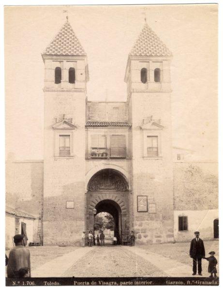 1706 - Toledo. Puerta de Visagra [sic Bisagra], parte interior