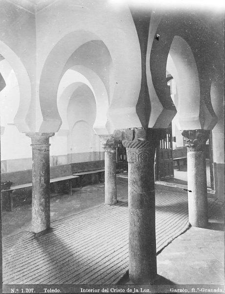 1707 - Toledo. Interior del Cristo de la Luz - Foto del Archivo Municipal de Córdoba