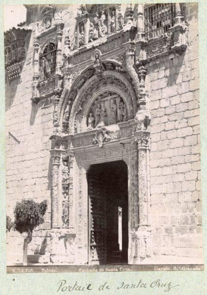 1713 - Toledo. Fachada de Santa Cruz