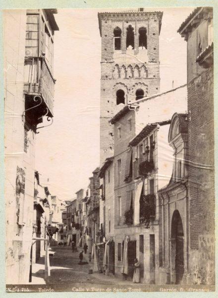 1715 - Toledo. Calle y Torre de Santo Tomé