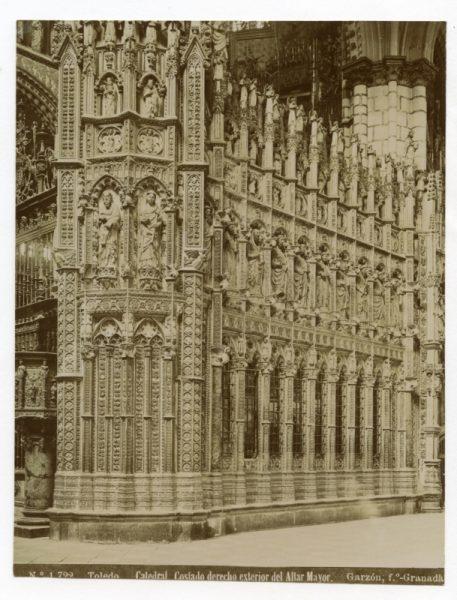 1722 - Toledo. Catedral Costado derecho exterior del Altar Mayor