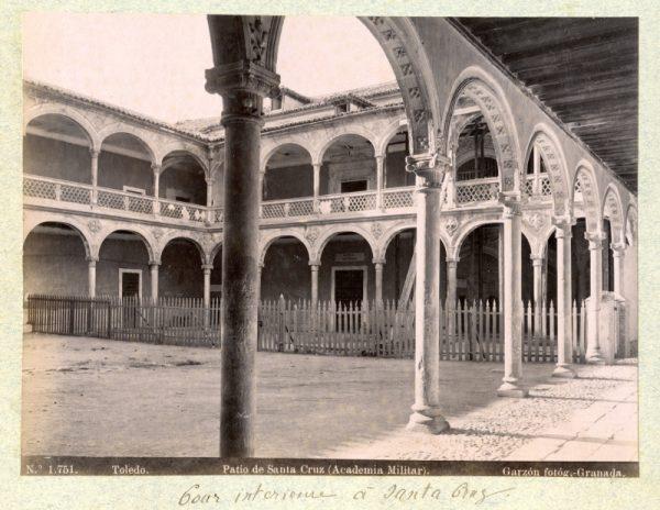 1751 - Toledo. Patio de Santa Cruz (Academia Militar)