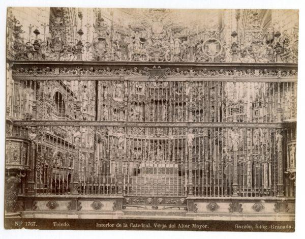 1767 - Toledo. Interior de la Catedral. Verja del Altar Mayor