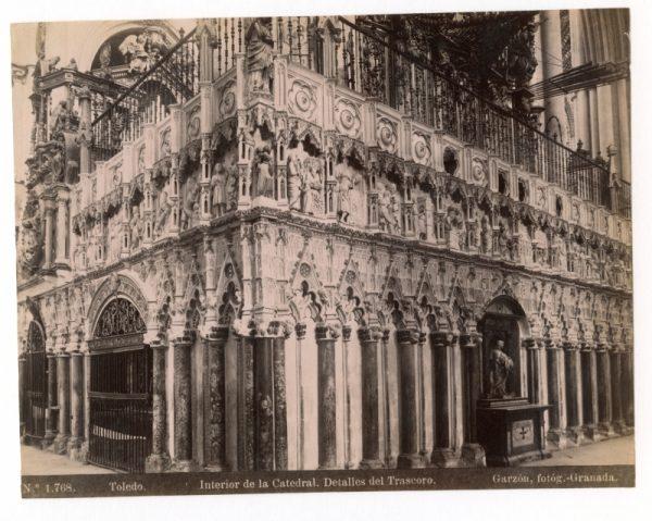 1768 - Toledo. Interior de la Catedral. Detalles del Trascoro