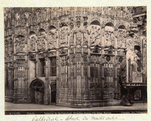 1771 - Toledo. Interior de la Catedral. Detalles detrás del Altar Mayor