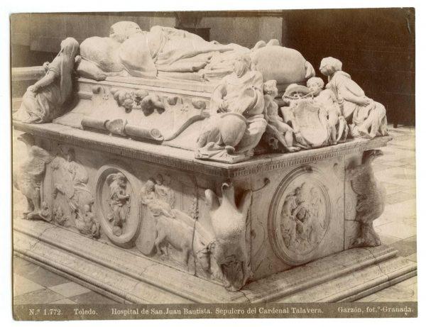 1772 - Toledo. Hospital de San Juan Bautista. Sepulcro del Cardenal Talavera [sic, Tavera]
