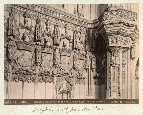 1778 - Toledo. Detalles de la Iglesia de San Juan de los Reyes, costado derecho