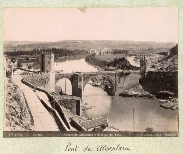 1781 - Toledo. Puente de Alcántara y Riberas del Tajo