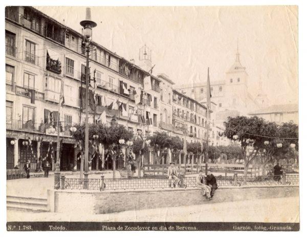 1783 - Toledo. Plaza de Zocodover en día de Bervena [sic, verbena]