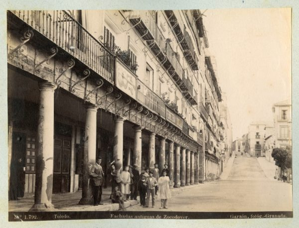 1792 - Toledo. Fachadas antiguas de Zocodover