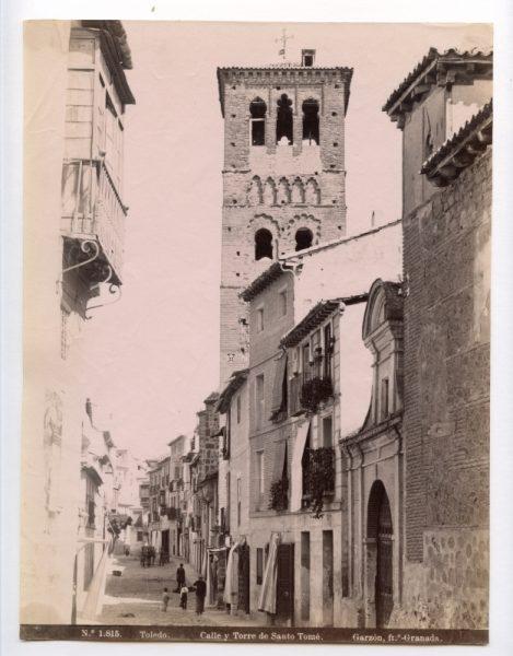 1815 - Toledo. Calle y Torre de Santo Tomé