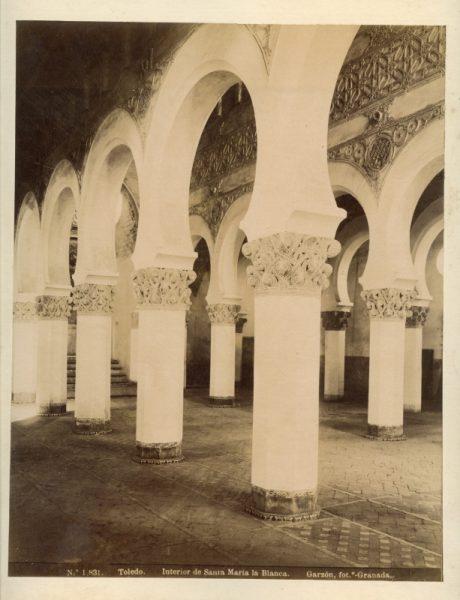 1831 - Toledo. Interior de Santa María la Blanca