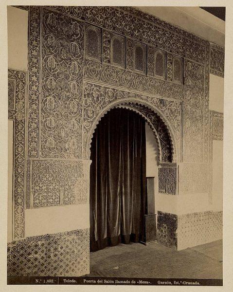 1832 - Toledo. Puerta del Salón llamado de Mesa - Foto de la Biblioteca Nacional