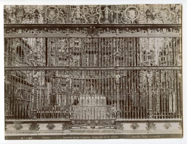 1867 - Toledo. Interior de la Catedral. Verja del Altar Mayor