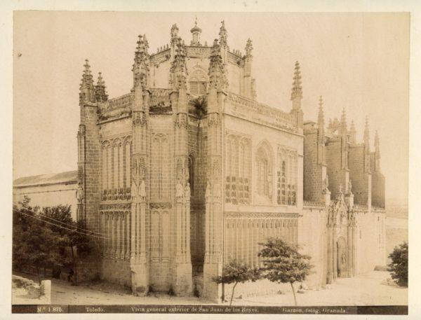 1875 - Toledo. Vista general exterior de San Juan de los Reyes