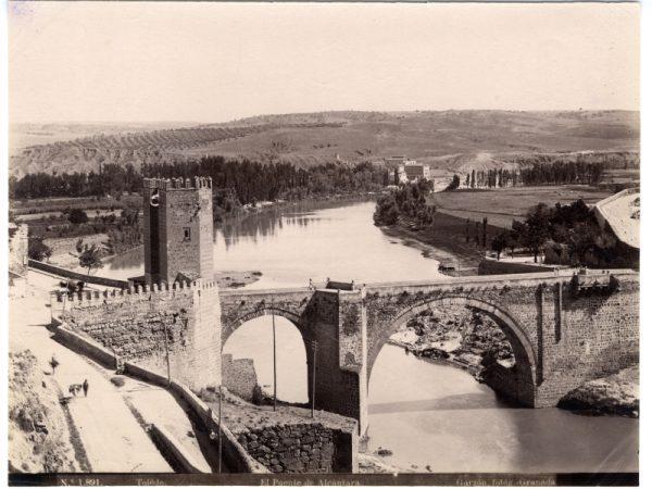 1891 - Toledo. El Puente de Alcántara