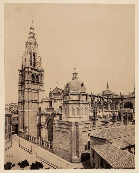 1903 - Toledo. Exterior de la Catedral - Foto de la Biblioteca Nacional