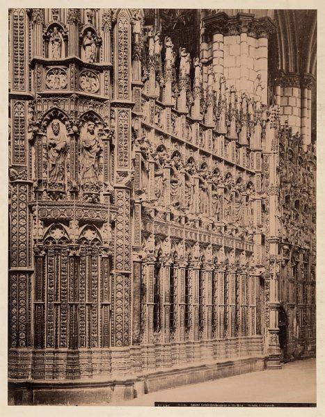 1907 - Toledo. Catedral - Costado derecho exterior del Altar Mayor - Foto de la Biblioteca Nacional