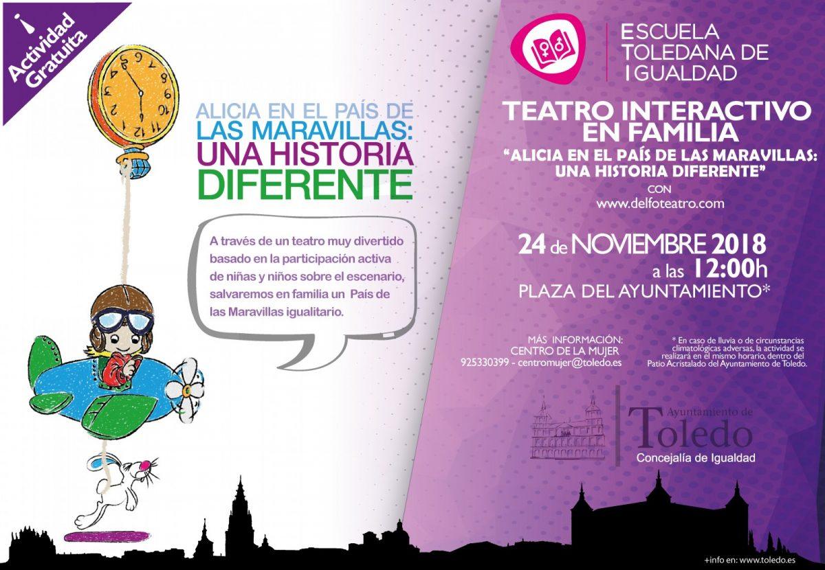 https://www.toledo.es/wp-content/uploads/2018/11/cartel-a3-01-1-1-1200x830.jpg. La Plaza del Ayuntamiento acogerá el próximo sábado 24 de noviembre un teatro interactivo gratuito para familias