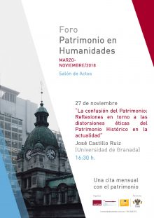 http://www.toledo.es/wp-content/uploads/2018/11/cartel-foro-hep-5_3-220x311.jpg. Foro Patrimonio en Humanidades