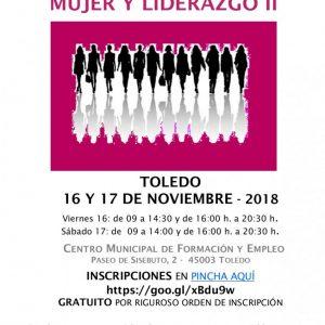 El Ayuntamiento ofrece 30 plazas para participar en el Curso Mujer y Liderazgo II que acogerá Toledo los días 16 y 17 de noviembre