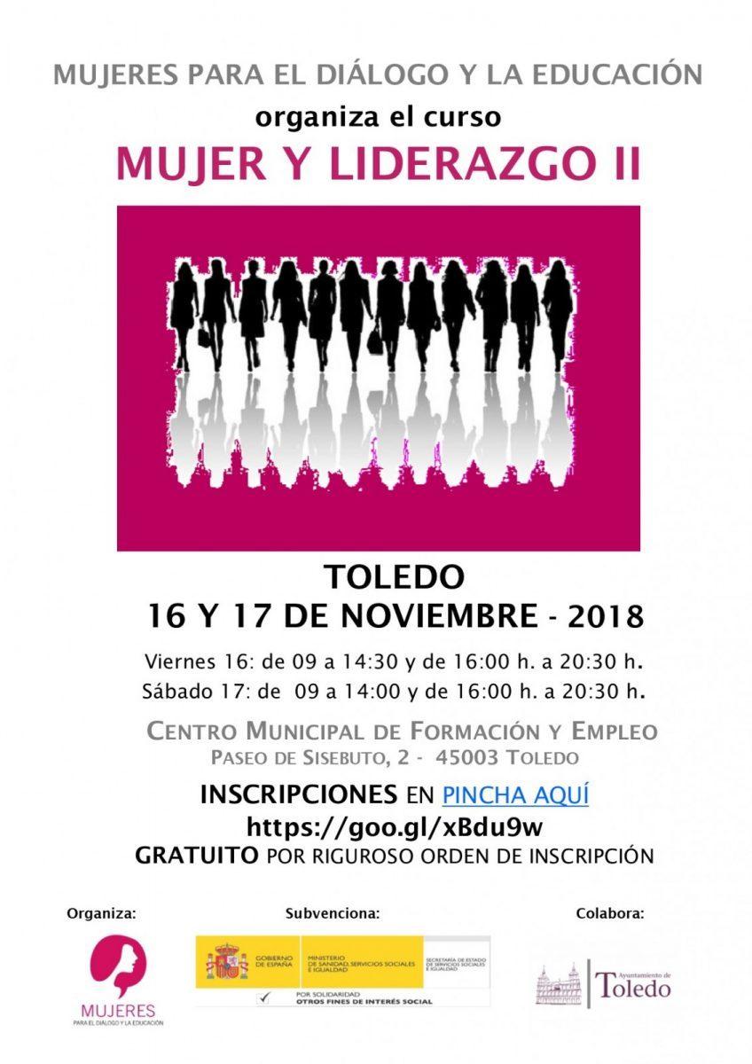 https://www.toledo.es/wp-content/uploads/2018/11/cartel-myl-toledo-ii-2018-5-848x1200-1-848x1200.jpg. El Ayuntamiento ofrece 30 plazas para participar en el Curso Mujer y Liderazgo II que acogerá Toledo los días 16 y 17 de noviembre