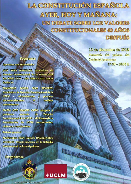 http://www.toledo.es/wp-content/uploads/2018/11/constitucion-investigadores.jpg. JORNADA SOBRE EL 40º ANIVERSARIO DE LA CONSTITUCIÓN ESPAÑOLA