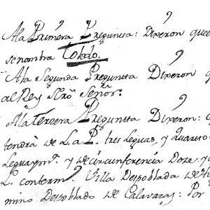 oledo a mediados del siglo XVIII