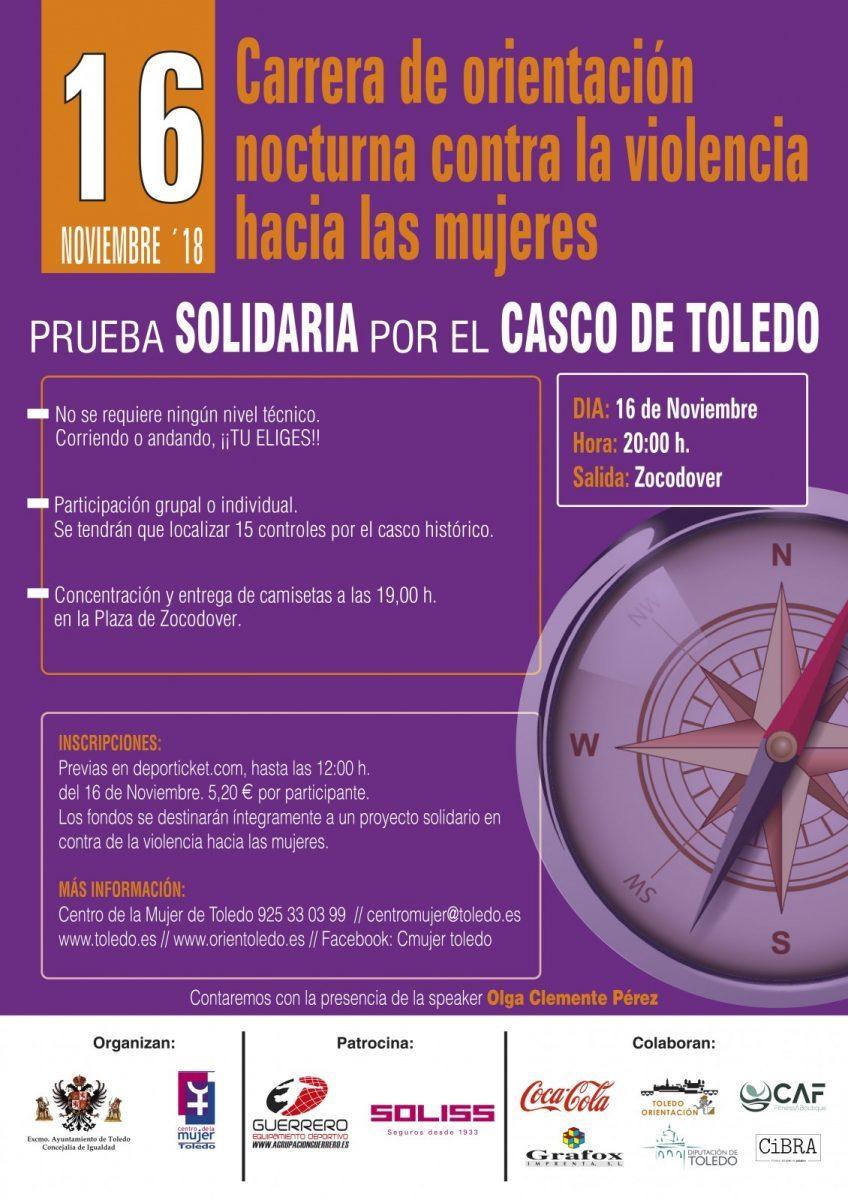 """http://www.toledo.es/wp-content/uploads/2018/11/img-20181112-wa0007-848x1200.jpg. IV Carrera de Orientación Urbana Nocturna """"Contra la violencia hacia las mujeres"""""""