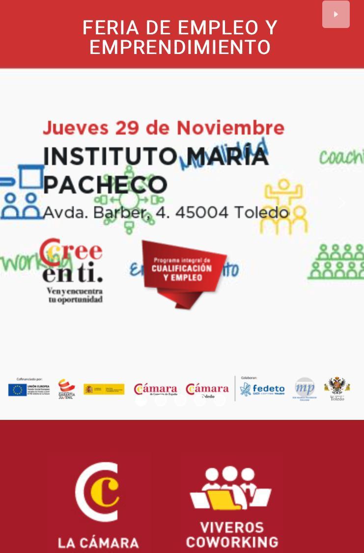 http://www.toledo.es/wp-content/uploads/2018/11/img-20181121-wa0005.jpg. FERIA DE EMPLEO Y EMPRENDIMIENTO