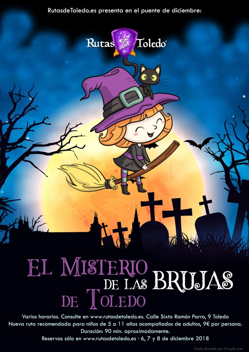 "https://www.toledo.es/wp-content/uploads/2018/11/infantil-las-brujas-de-toledo-848x1200.jpg. Ruta infantil ""El misterio de las Brujas de Toledo"""