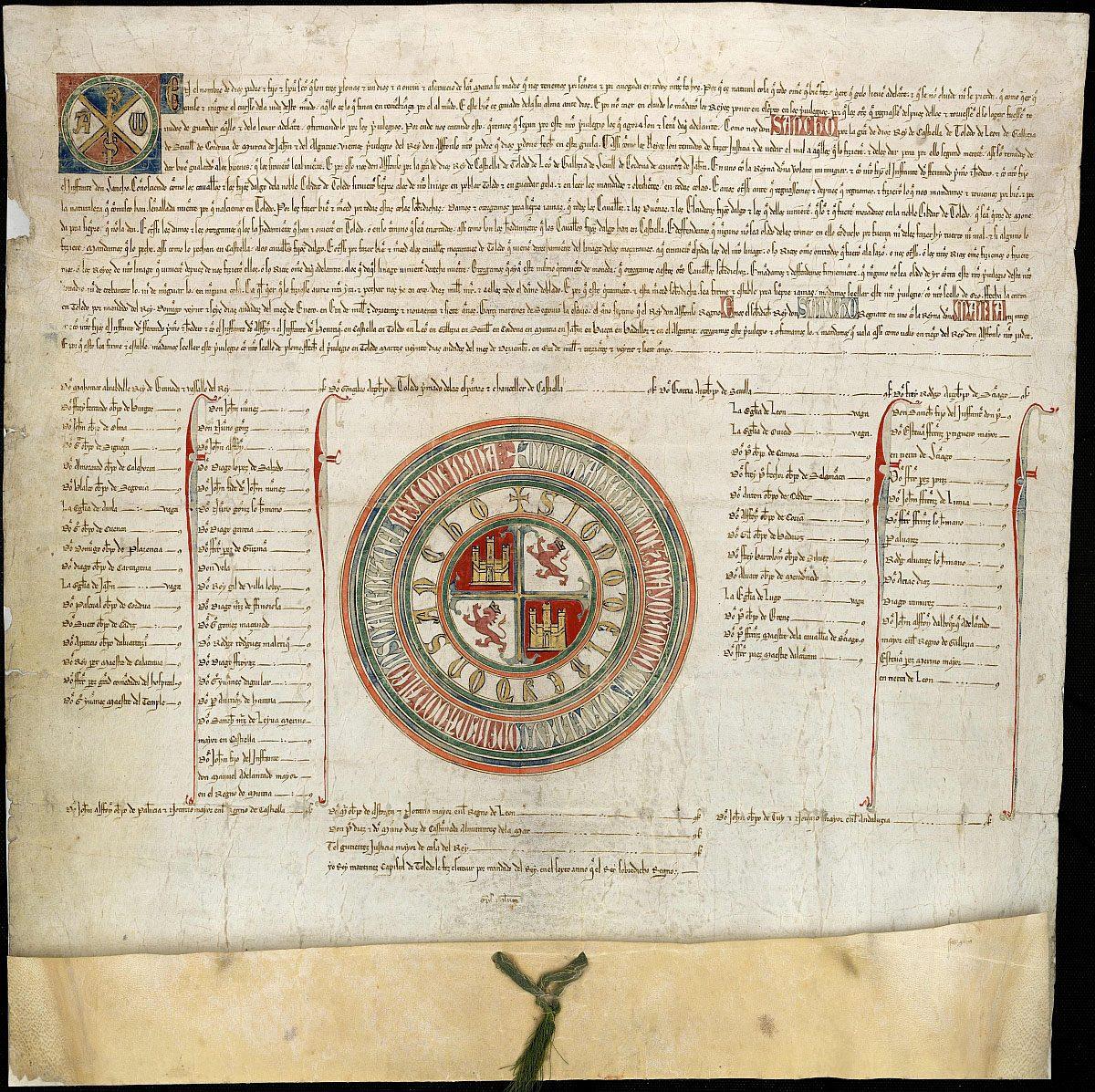 https://www.toledo.es/wp-content/uploads/2018/11/lamnario-1200x1197.jpg. Laminario de documentos de Toledo, nuevo recurso del Archivo Municipal para estudiosos de la paleografía