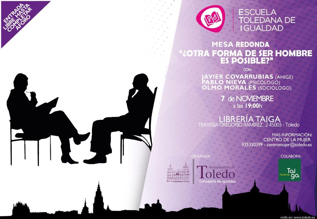https://www.toledo.es/wp-content/uploads/2018/11/mes-redonda-cartel-correcto-1-1200x830.jpg. Mesa Redonda ¿Otra forma de ser hombre es posible?