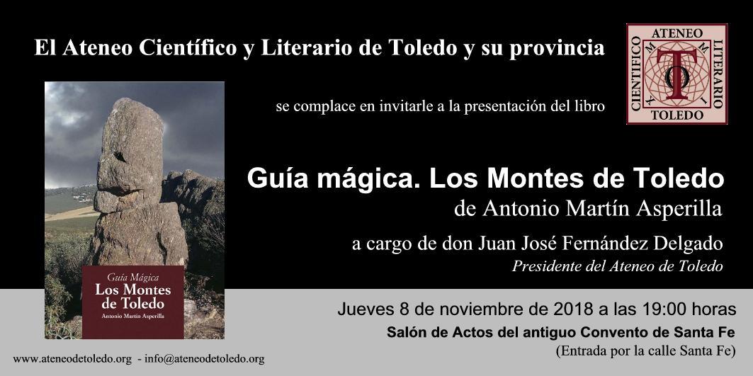 """https://www.toledo.es/wp-content/uploads/2018/11/presentacion-guia-magica-montes-de-toledo.jpg. Presentación del libro """"Guía mágica. Los Montes de Toledo"""""""