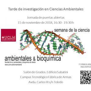 Semana de la Ciencia: Tarde de Investigación en Ciencias Ambientales.